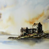 Eilean Donan Castle, Original Watercolour Painting.