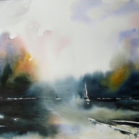 Through the Storm, Original Watercolour Painting.