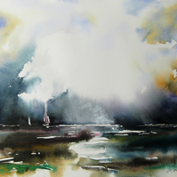 Through the Storm No2, Original Watercolour Painting.