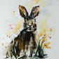 Bunny, Original Watercolour Painting.