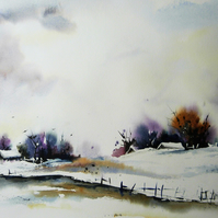 Winter, Original Watercolour Painting.