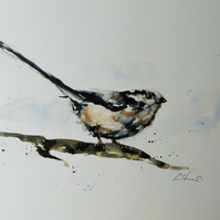 Long Tailed Tit, Original Watercolour Painting.