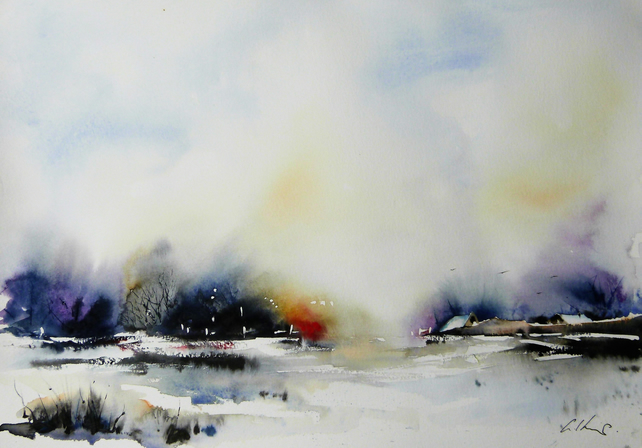 The Thaw, Original Watercolour Painting.