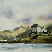 Duart Castle, Original Watercolour Painting.