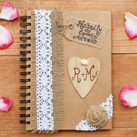 Wedding personalised guest book with pen