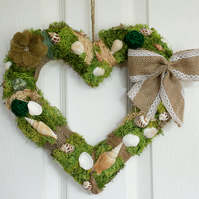 Valentines Day luxury heart, Romantic nautical heart wreath