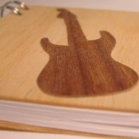 Guitar Wood Covered Notebook