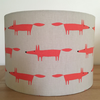Handmade Lampshade, Featuring Little fox by Scion. Ginger Fox.