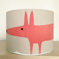 Handmade Lampshade featuring Mr Fox by Scion, Neutral and Paprika.