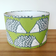 Handmade Lampshade Featuring Spike Hedgehog  by Scion. in Kiwi Green