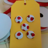 Strawberry covered buttons