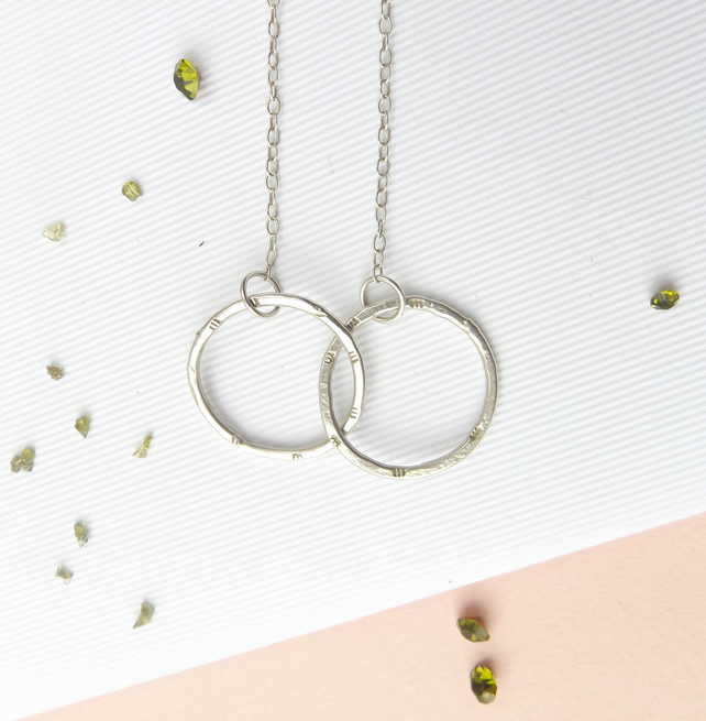 Two hoops necklace- Infinity necklace