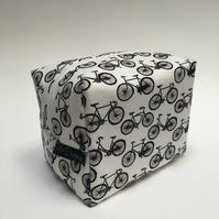 Boxy make up bags- bicycles
