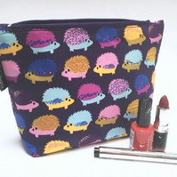 Make up bag - hedgehogs