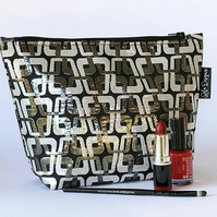 Make up bags - black & silver