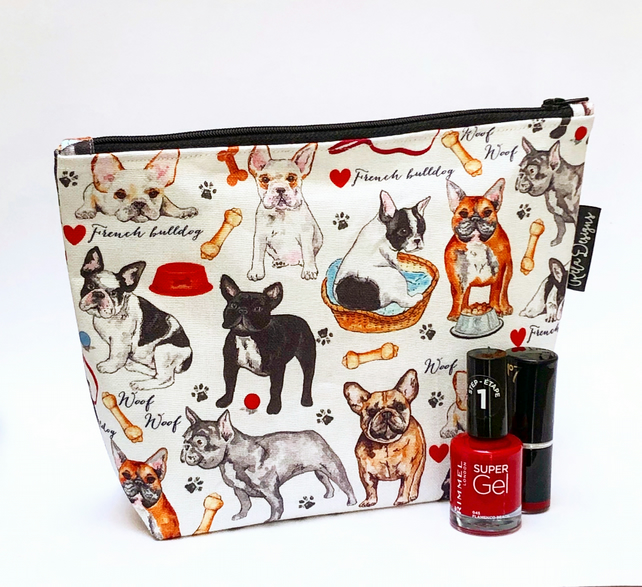 Makeup bags French bulldogs