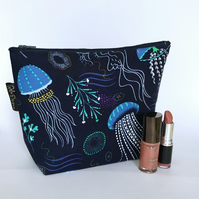 Jelly fish make up bag