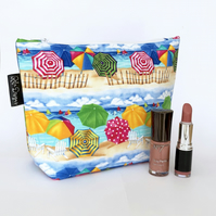 Makeup bag, beach, seaside