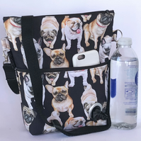 Dog walking bag, crossbody bag, shoulder bag.