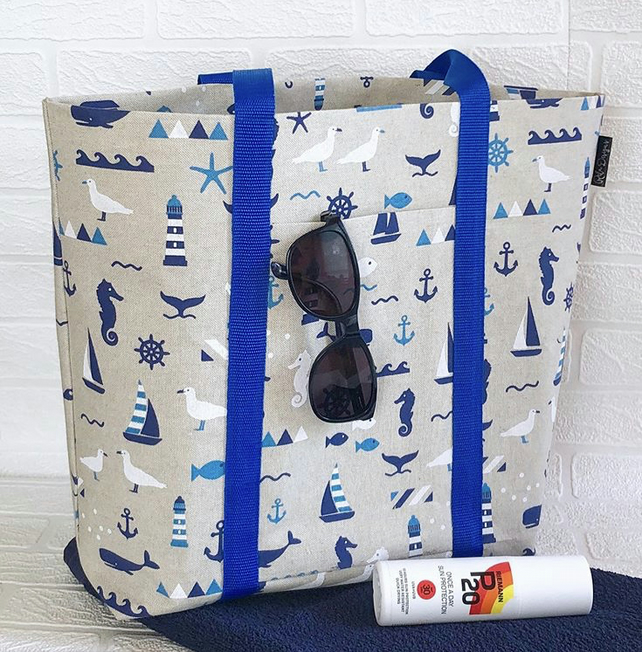 Beach bag,tote bag, shoulder bag, picnic bag