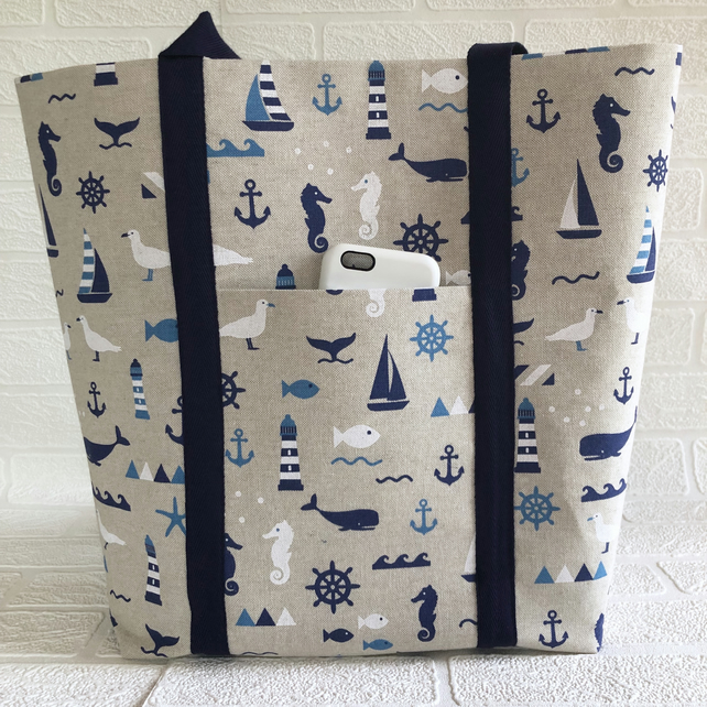 Beach bag, tote bag, shoulder bag, picnic bag