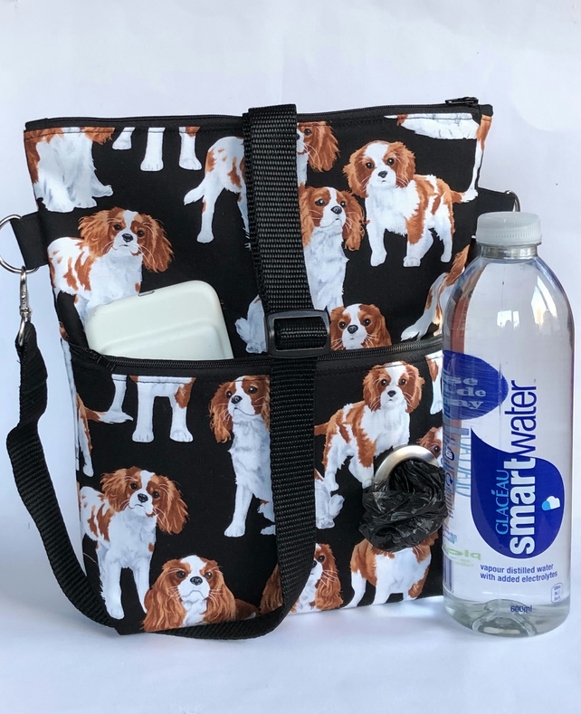 Dog walking bag, crossbody bag,spaniels