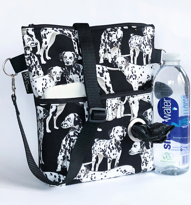 Dog walking bag, crossbody bag, Dalmatians
