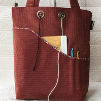 Project bag for knitters and crocheters