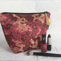 Makeup bag, brocade