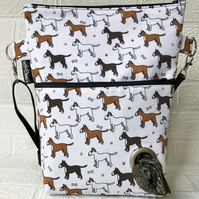 Dog walking bag,Bull terriers