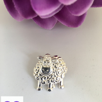 Fine Silver Sheep Broach