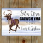 Santa Sign, Santa Please Stop here for: Custom name or names, Welsh Sign