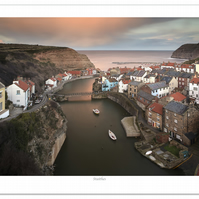 """Staithes"" North Yorkshire 12""x8"" image on 14""x10"" Landscape Photographic Print"