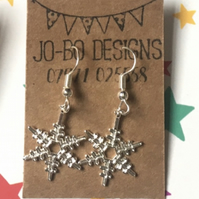Snowflake earrings (silver)