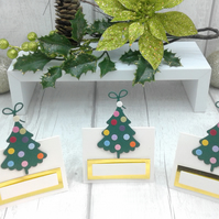 Christmas place settings. Set of 15 luxury Christmas place cards. Ivory.