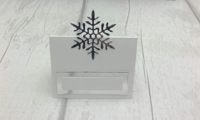 Winter wedding place cards. Set of 100 luxury winter wedding place settings.