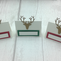 Christmas place settings. Set of 15 luxury deer Christmas place cards.