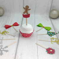 Christmas cupcake toppers & decorations. 100 festive food decorations.