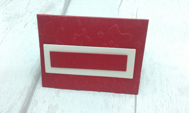 Christmas place settings. Set of 10 luxury Christmas place cards. Red & ivory.