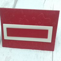 Christmas place settings. Set of 15 luxury Christmas place cards. Red & ivory.