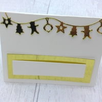 Christmas place settings. Set of 15 luxury Christmas place cards. Ivory and gold