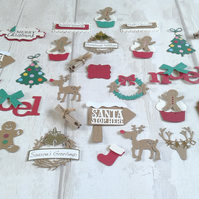 Christmas toppers. 100 Christmas papercrafting toppers. Plus 10 free craft tags.