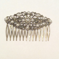 Bridal hair Comb Antique Bronze Filigree Hair Comb Bridal wedding