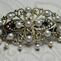 Vintage style Hair Barrette Pearl Hair Accessories Wedding Bridal