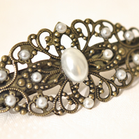 Vintage style Hair Barrette Pearl Hair Accessories Wedding Bridal Boho