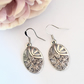 Silver Marcasite Oval Earring Mother gift Bohemian Wedding Vintage