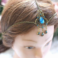 Simple bronze  tone Head Chain Head Dress Hait ornament Bridal Wedding Festival