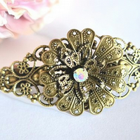 Vintage style Hair Barrette Flower l Hair Accessories Wedding Bridal Boho
