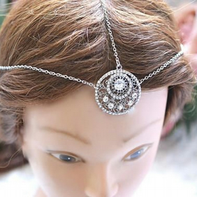 Beautiful silver Head Chain Head Dress Hait ornament Bridal Wedding Festival
