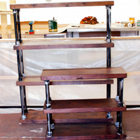 Modern Industrial Retro Scaffold Shelving Unit Bookcase
